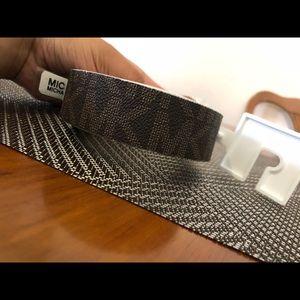 MICHAEL Michael Kors Accessories - New Mk Signature Monogram Belt Reversible ✨